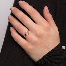 Heart Ring With a Diamond In 10kt Rose Gold