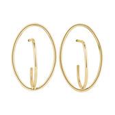 Oval Stud Earrings in 10kt Yellow Gold