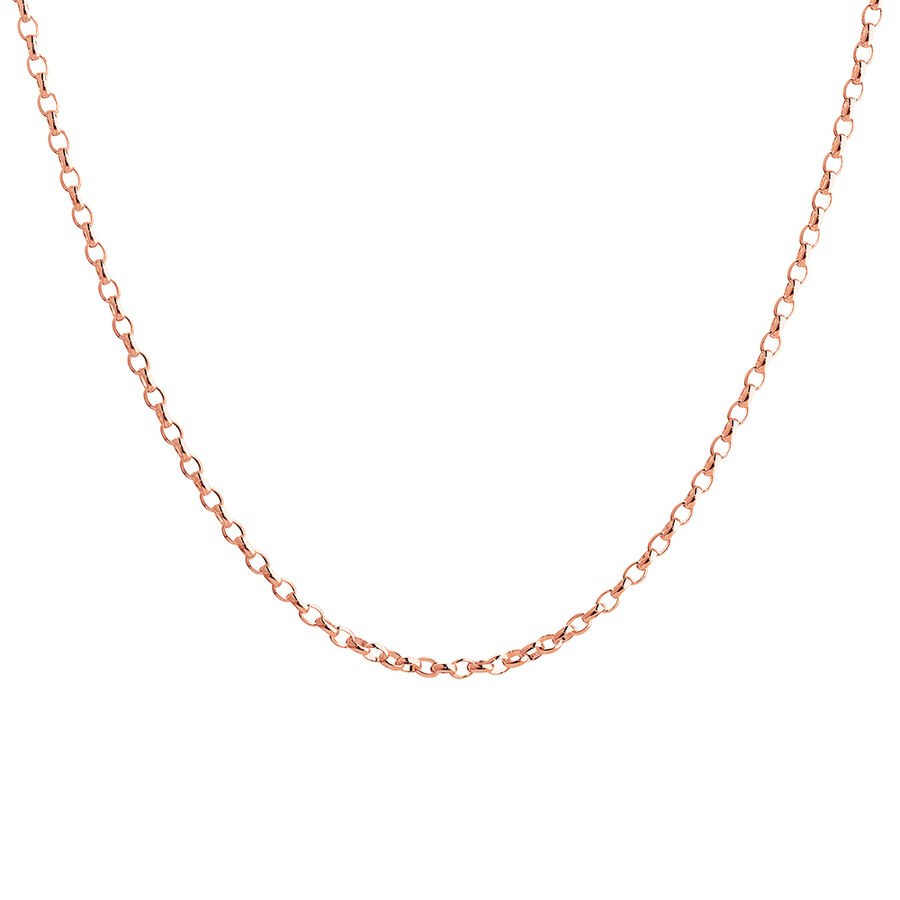 """60cm (24"""") Hollow Rolo Chain in 10kt Rose Gold"""