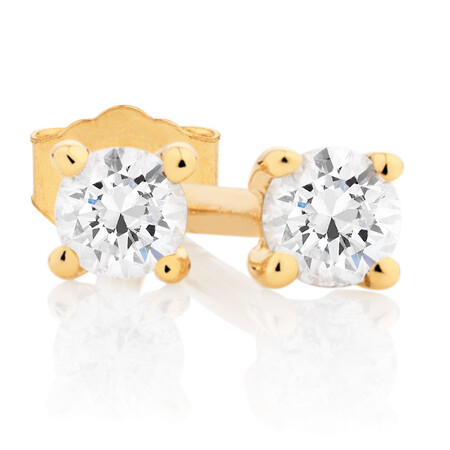 Classic Stud Earrings with 0.085 Carat TW of Diamonds in 10kt Yellow Gold