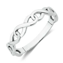 Infinity Link Ring in Sterling Silver