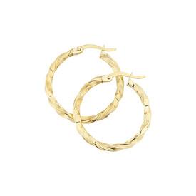 Medium Twist Hoop Earrings in 10kt Yellow Gold