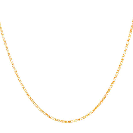 40cm Double Curb Chain in 10kt Yellow Gold