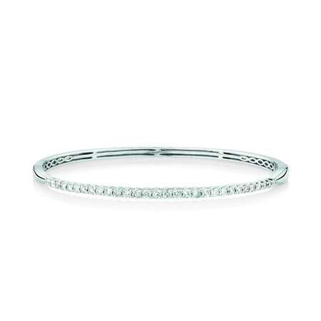 Bangle With 1 Carat TW Of Diamonds In 10kt White Gold