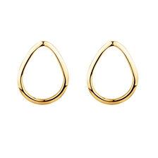 Open Pear Stud Earrings in 10kt Yellow Gold