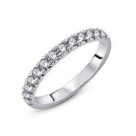 Ring with 0.50 Carat TW of Diamonds in 18kt White Gold