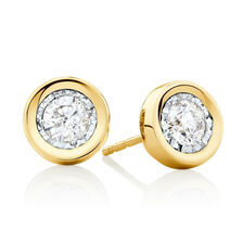 Stud Earrings with 1/2 Carat TW of Diamonds in 10kt Yellow Gold