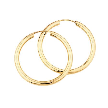 20mm Flexible Clasp Hoop Earrings in 10kt Yellow Gold
