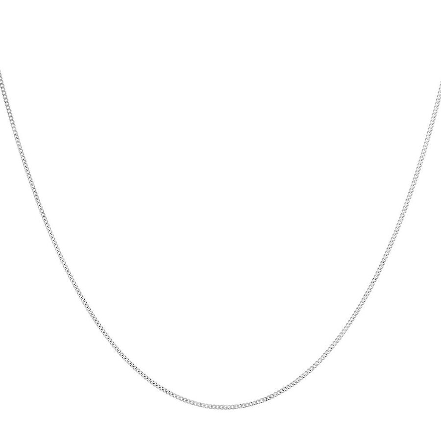 """45cm (18"""") Curb Chain in 10kt White Gold"""
