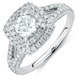 Sir Michael Hill Designer GrandArpeggio Engagement Ring with 1.69 Carat TW of Diamonds in 14kt White Gold