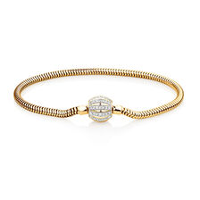 "21cm (8.5"") Charm Bracelet with 0.53 Carat TW of Diamonds in 10kt Yellow Gold"