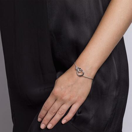 Knots Adjustable Bracelet in Sterling Silver