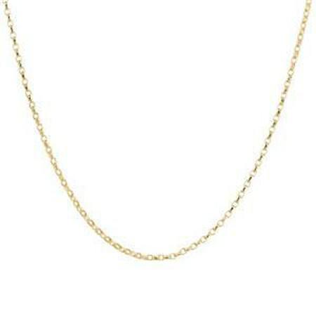 "50cm (20"") Diamond Cut Rolo Chain in 18kt Yellow Gold"