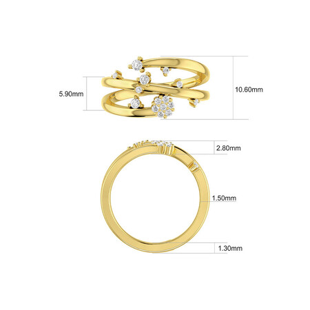 Scatter Ring with 0.25 Carat TW of Diamonds in 10kt Yellow Gold