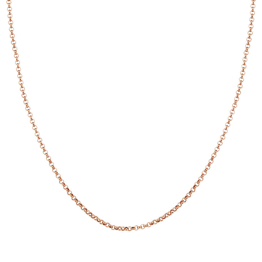 """45cm (18"""") Hollow Rolo Chain in 10kt Rose Gold"""