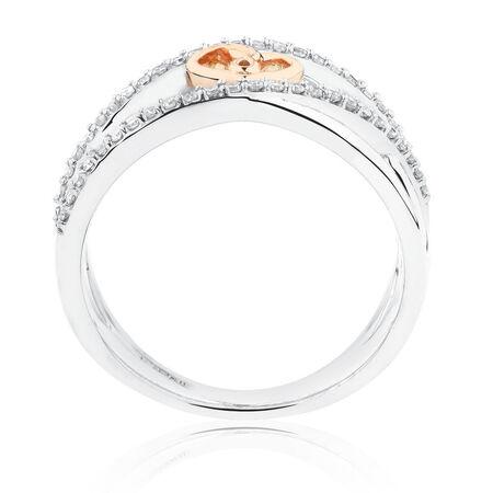 Infinitas Ring with 1/4 Carat TW of Diamonds in 10kt Rose Gold