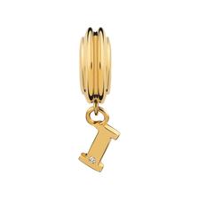 Diamond Set & 10kt Yellow Gold 'I' Charm