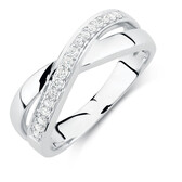 Ring with 0.15 Carat TW of Diamonds in 10kt White Gold