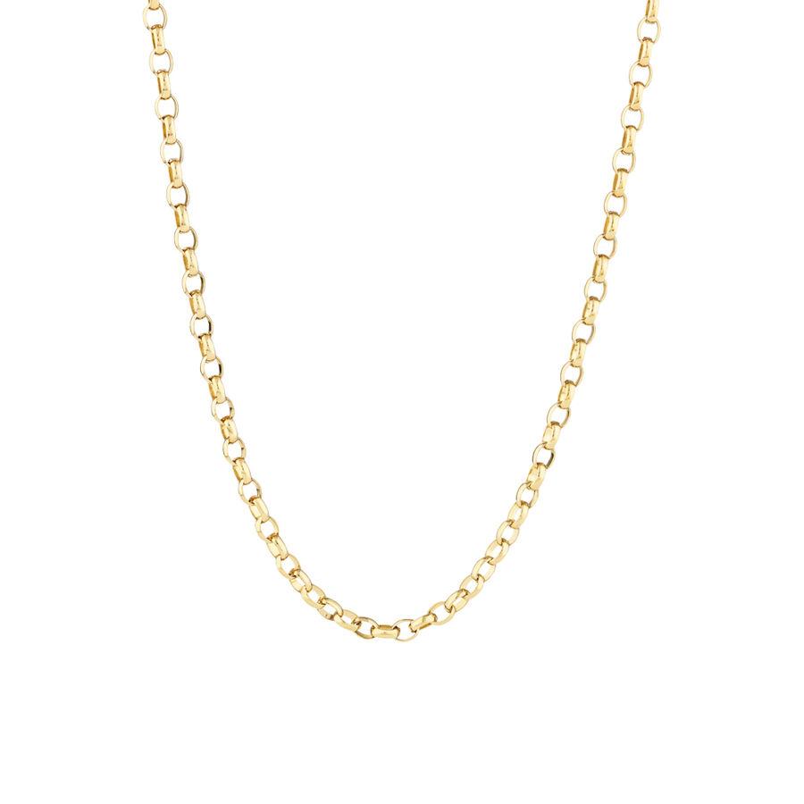 "45cm (18"") Diamond Cut Rolo Chain in 18kt Yellow Gold"
