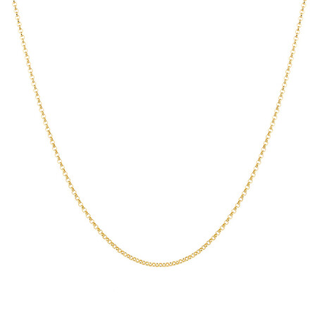 """60cm (24"""") Hollow Rolo Chain in 10kt Yellow Gold"""