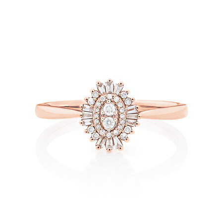 Evermore Promise Ring with 0.15 Carat TW of Diamonds in 10kt Rose Gold