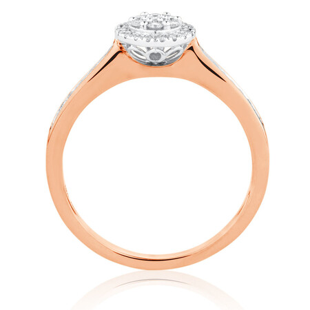 Engagement Ring with 1/4 Carat TW of Diamonds in 10kt Rose & White Gold