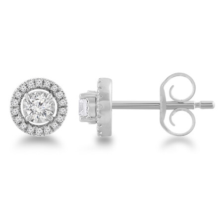 Stud Earrings with 0.20 Carat TW of Diamonds in 10kt White Gold