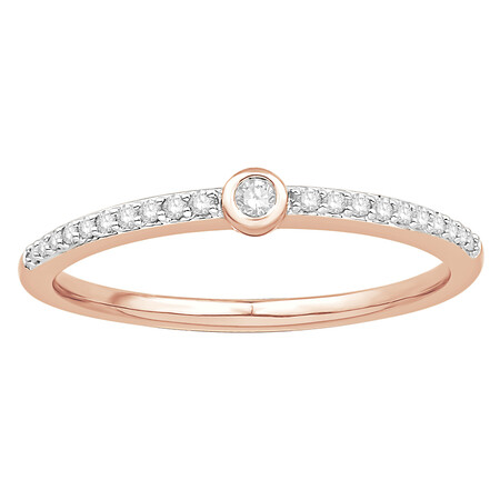 Ring with 0.12 Carat TW of Diamonds in 10kt Rose Gold