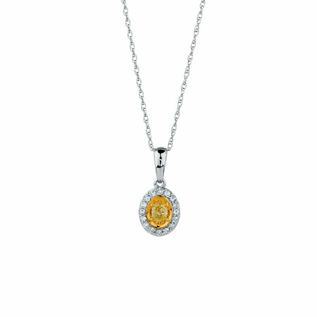 Pendant with 1/4 Carat TW of Diamonds in 10kt Yellow & White Gold