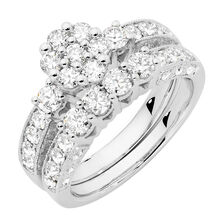 Online Exclusive - Bridal Set with 1 3/4 Carat TW of Diamonds in 14kt White Gold