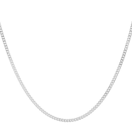 "70cm (28"") Curb Chain in Sterling Silver"