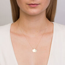 Oval Disc Necklace in 10kt Yellow Gold