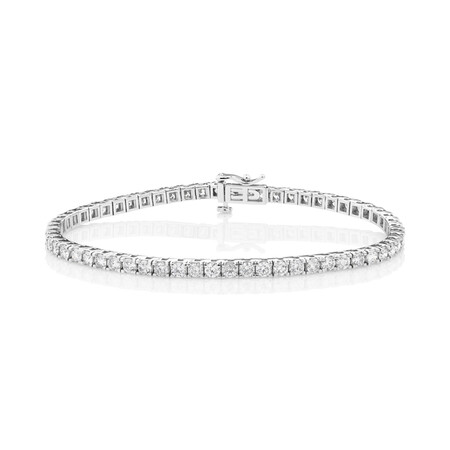 Tennis Bracelet with 5 Carat TW of Diamonds in 10kt White Gold