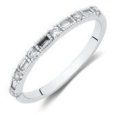 Evermore Wedding Band with 1/5 Carat TW of Diamonds in 10kt White Gold
