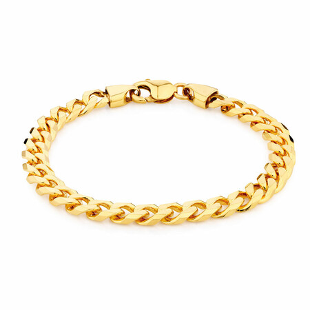 """23cm (9.5"""") Curb Bracelet in 10kt Yellow Gold"""