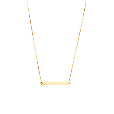 """45cm (18"""") Bar Necklace in 10kt Yellow Gold"""