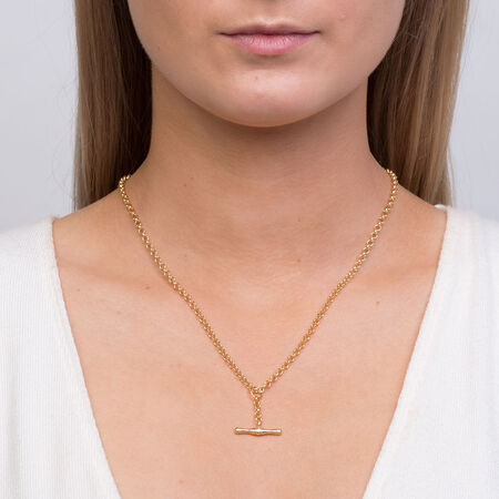 """45cm (18"""") Hollow Rolo Chain in 10kt Yellow Gold"""