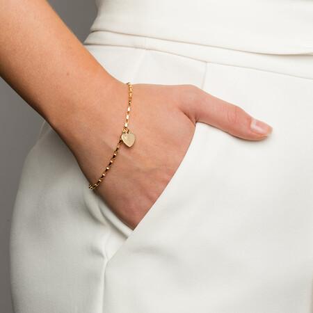 Diamond Set Belcher Bracelet in 10kt Yellow Gold
