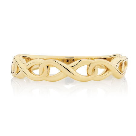 Infinity Link Ring in 10kt Yellow Gold