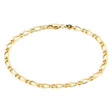 Online Exclusive - Figaro Bracelet In 10kt Yellow Gold
