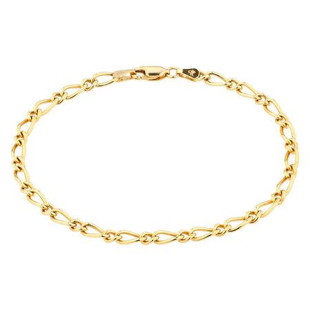 Online Exclusive - Figaro Bracelet In 10kt Yellow Gold