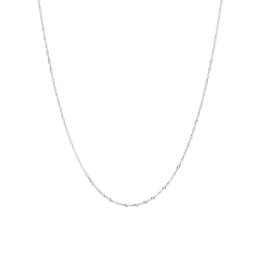 """50cm (20"""") Singapore Chain in 14kt White Gold"""
