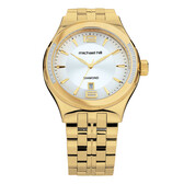 Men's Watch with Diamonds in Gold Tone Stainless Steel