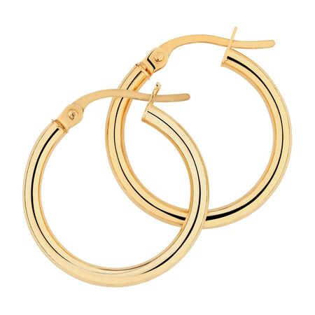 18mm Hoop Earrings in 10kt Yellow Gold