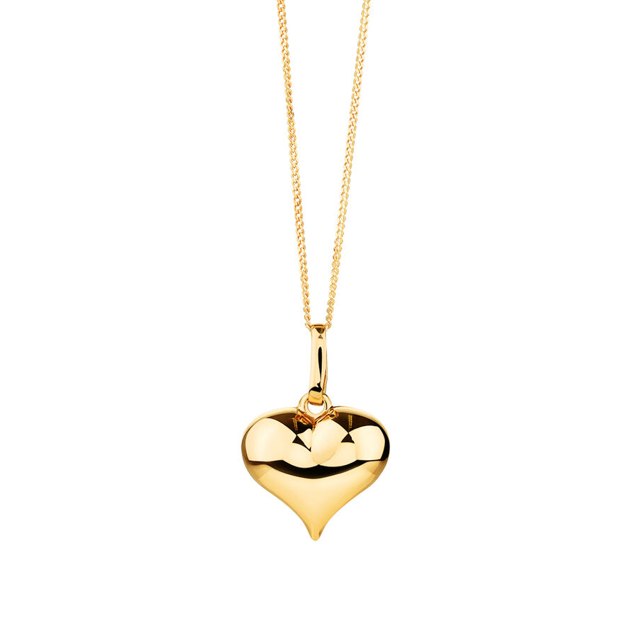 Heart Pendant in 10kt Yellow Gold