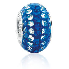 Royal Blue & White Crystal Charm