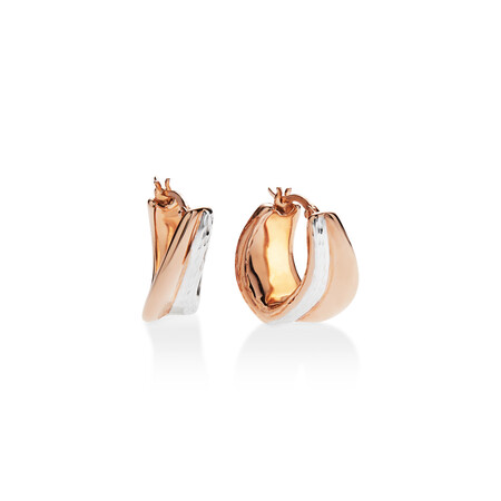Earrings set in 14kt Rose and White Gold