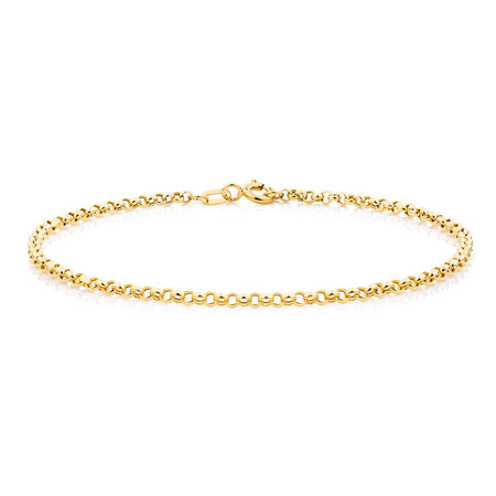 "17cm (7"") Hollow Belcher Bracelet in 10kt Yellow Gold"