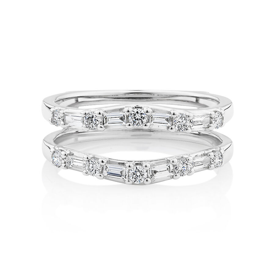 Enhancer Ring with 0.45 Carat TW of Diamonds in 10kt White Gold