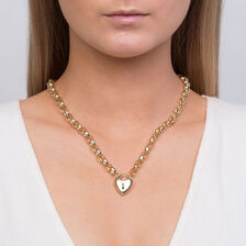 Hollow Rolo Chain in 10kt Yellow Gold